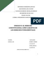 DERECHO CONSTITUCIONAL COMO GARANTÍA AL DERECHO FUNDAMENTAL