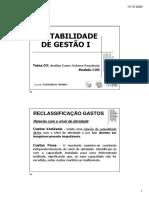 CONTABILIDADE DE GESTÃO I - 03. Análise CVR