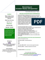 Investor Ready Entrepreneur Flyer