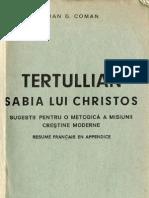 Ioan G Coman - Tertullian - Sabia Lui Hristos