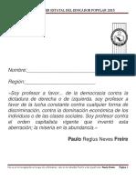 Antología. XII Curso-Taller Estatal del Educador Popular. 2015