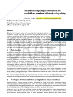 Block Caving Subsidence Analysis -  Effect of geological structures    ////    for more info link to