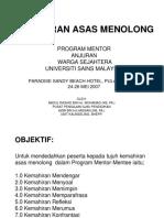 Program Mentor-mentee- Kemahiran Asas Menolong (Abdul Rashid Dan Azmi Hassan)
