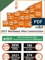 ODOT 2021 Northeast Ohio construction fact sheets