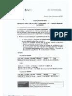 Circular Dp 09-21 Movilidad Para Jubilaciones y Pensiones - Luz y Fuerza- Mensual Marzo-2021
