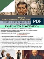 Bloque I Ideologías en México Al Iniciar La Vida Independiente HMII