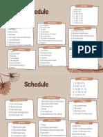 Yellow and Dark Blue Geometric Pattern Teacher Class Schedule 4
