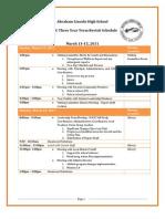 WASC Visit Schedule