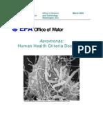 EPA-Aeromonas human health criteria document