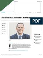 'Vivimos en la economía de la reputación'   Economía   Portafolio