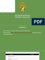 Buku Saku Petunjuk Instalasi FortiClient VPN