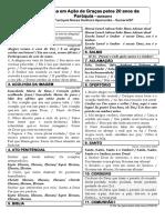 folheto_20anos Músicas Liturgicas