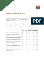 Cuestionario Detección Motivacional Grupo-Clase