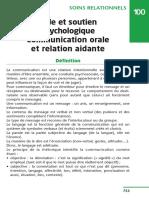 100 Aide Et Soutien Psychologique Communication or 2015 Fiches de Soins In
