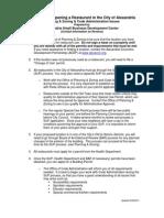 Restaurant Checklist Document