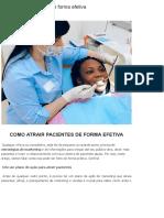 Como Atrair Pacientes de Forma Efetiva
