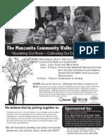 Manzanita Community Walk Leaflet English 3.16.11