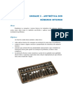 Unidade 3 - Aritmética dos inteiros