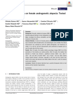 Platelet-rich plasma on female androgenetic alopecia -Tested on 10 patients