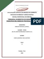 1.- Elementos y Principios Del Derecho Procesal Laboral