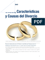 UNIDAD 2Clases, Características y Causas del Divorcio