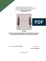 Informe Asesores Benedetti Caso Mpps