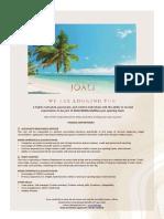 JOALI Being_Job Advertisement 090421