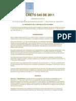 DECRETO 545 DE 2011