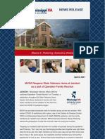 Veterans MSVA Launches Operation Family Reunion - Jackson Home