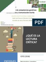 Taller en competencias genéricas Lectura Crítica y Comuncación Escrita