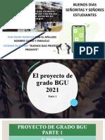 El Proyecto de Grado BGU 2021