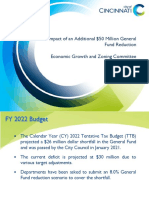 Impact of $50 Million General Fund Reduction