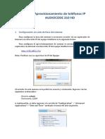 Manual de Configuracion - Provisionamiento telefono Audiocodes
