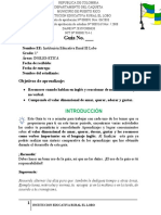VERBOS COTIDIANOS GUIA 1 INGLES Y ETICA