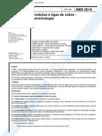 NBR 5019 TB 50 - Produtos e Ligas de Cobre - Terminologia
