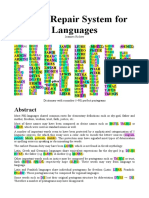 A Self-Repair System for Languages