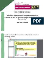 Qualidade de Energia a Influencia Das Harmonicas Na Compensacao Reativa Nas Instalacoes Eletricas de Baixa Tensao