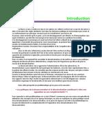 Decentralisation Et Deconcentration