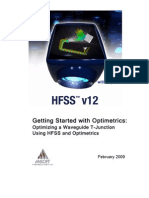 HFSSv12 Optimizing Waveguide T-Junction - Using Optimetrics