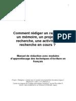 Rediger Un Rapport Projet