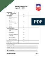 SpeechTeacher Assessment 2011