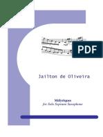 Oliveira Melyriques for Soprano Saxophone