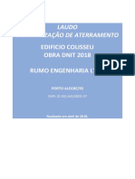 LAUDO ATERRAMENTO RUMO DNIT 2018 REV.0
