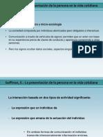 Presentacion Goffman 2021-2 La presentacion de la persona en la vida cotidiana