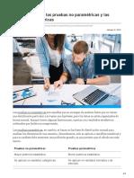 Diferencias entre las pruebas no paramétricas y las pruebas paramétricas