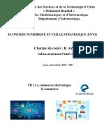 TD N°2  Commerce Electronique