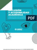 Inclusión y Accesibilidad Académica (Para Docentes)