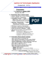 TechnoLAB-IsTA Master LMD Regime M1 Et M2