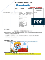 EVALUACION DIAGNOSTICA ( LUNES 22 DE MARZO) COMUNICACIÒN