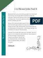 Prayer to Blessed John Paul II